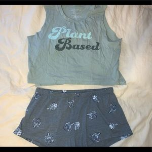 plant based pajama set